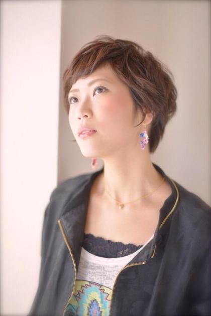 ショート✖️ショートをこだわった女性らしいカッコよいヘアスタイル☆メリハリにこだわったヘアスタイルはきっと周りの人を虜にします☆ [完全予約制フリーヘアデザイナー]所属・yoshiki☆のスタイル