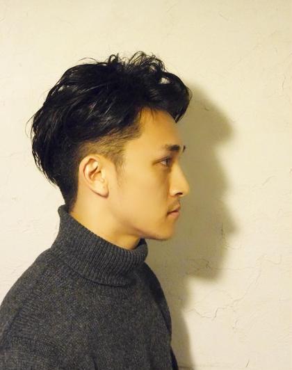 メンズもOKです。大人なツーブロックスタイル! パーマの雰囲気で、結構変わります JY'S所属・fujiwarahideakiのスタイル