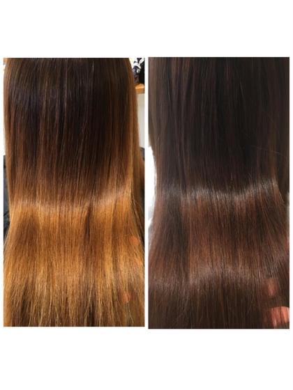 髪質改善縮毛矯正+髪質改善トリートメント(カット込み)