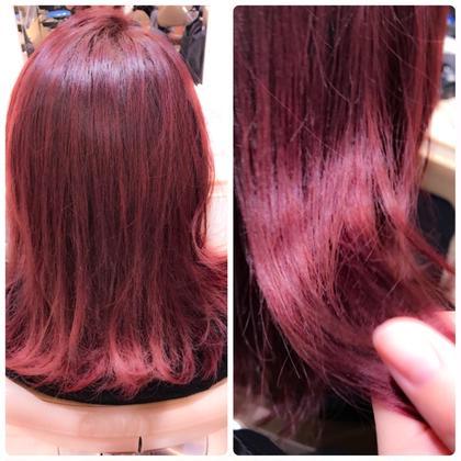 ❤レッドパープル❤  赤髪は艶感を綺麗にだすことができて さらに肌も色白に見せる効果あり!! ASH 行徳店所属・園田楓のスタイル