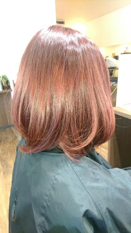 暗めのピンクブラウンから毛先は明るめのピンクアッシュ‼ 自然なグラデーションを作りたい方にオススメです! beauty:beast 浦添店所属・安 谷屋のスタイル