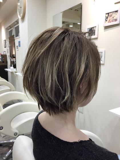 ハイライトショート 春花 のショートのヘアスタイル