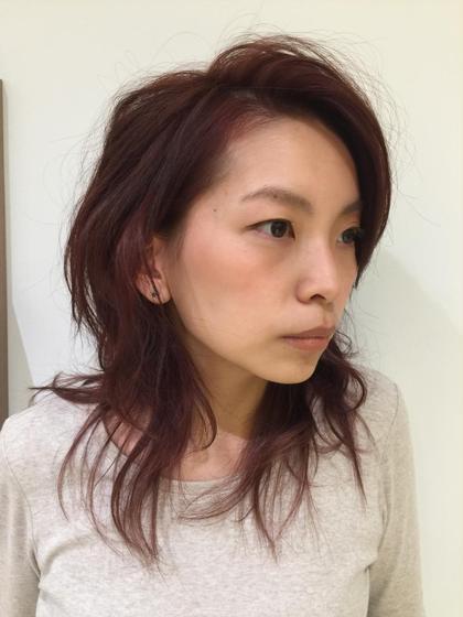 暖色系で暖かみのあるカラーに仕上げてみました! Ash川崎店所属・鈴木和也のスタイル