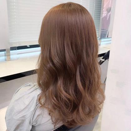 💖ブリーチなしで透明感がほしい💖ブリーチなしダブルカラー➕髪質改善トリートメント➕炭酸SPA➕コテ巻き🌷💫