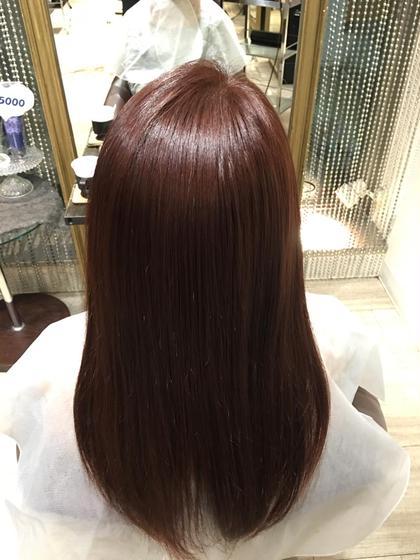 赤味系カラー✨ツヤツヤ✨ ヘアーメイクWiLL 阪急茨木店所属・鈴木未祐のスタイル