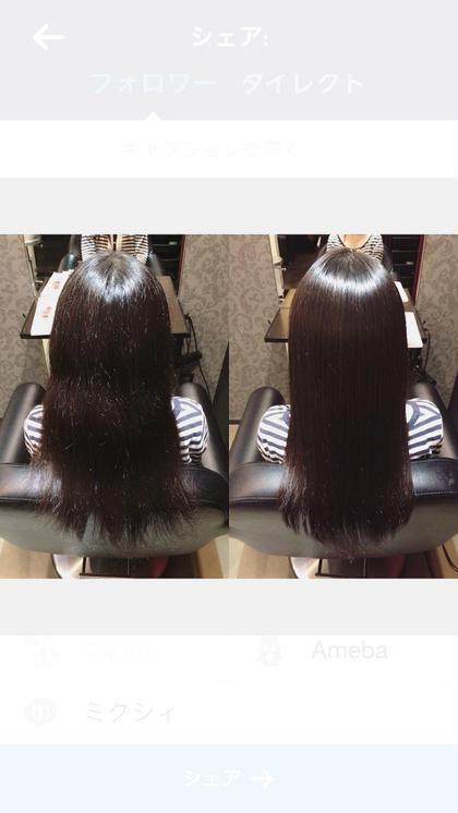 癖のある髪の毛を ナチュラルなストレートヘアに au-be 青山所属・遠藤悠大のスタイル