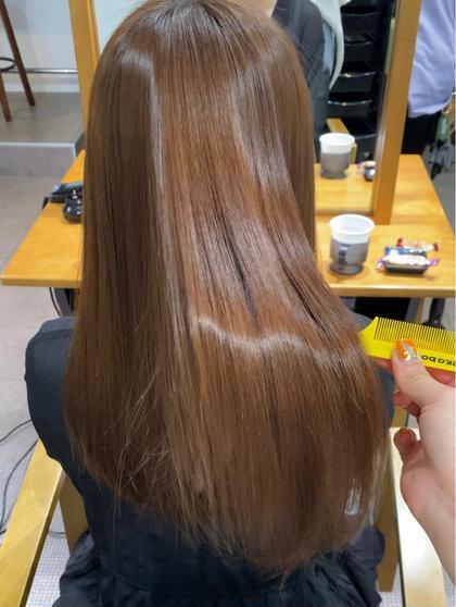 縮毛矯正+透明感カラー+トリートメント