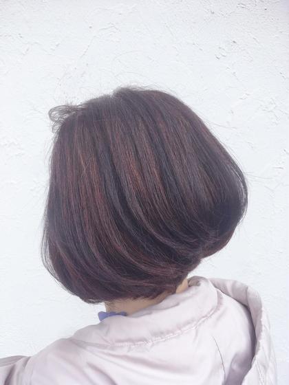 カット+明るい白髪染め+最高級トリートメント☺️