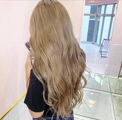 💎ダブルカラー💎ケアブリーチ+透明感カラー+艶髪トリートメント