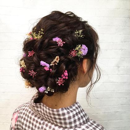 ヘアアレンジ ロング 今流行りのふわふわセット❤︎❤︎ 浴衣のヘアセット予約受付中です(*^_^*)