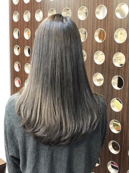 ブリーチ無しで透け感のあるグレージュ🤩 SUN所属・徳竹淳一のスタイル