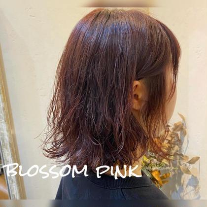 ⭐️ブロッサムピンク⭐️  他店でデジタルパーマ履歴のあるモデルさん⭐️ 毛先が乾燥して見えてしまうので、 ブロッサムピンクで 髪の毛がツヤっぽく見えるように 可愛く仕上げました🌸  ダメージが気になる方は、 アッシュ系などの寒色カラーよりも、 赤やピンクの暖色カラーで ツヤっぽく見せれますよ🙆🏻♂️✨  カットは、軽めのレイヤーを入れて 上からウェーブがくるように、 パーマ復活カット🙋🏻♂️✨  かわいい🙆🏻♂️!