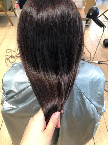 トーンダウン➕2ステップトリートメント🥺♡髪の毛暗くしたい方はせび!☺️