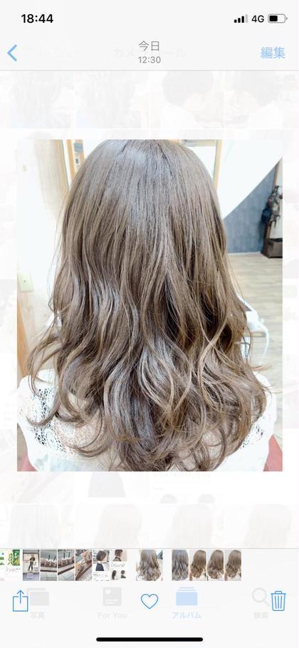 赤みを抑えたオリーブベージュ🌱 HairHomeno.8所属・有坂里恵のスタイル