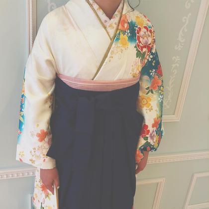 袴の着付けさせていただきました☺︎❤︎ Barretta by neolive所属・密本桃子のスタイル