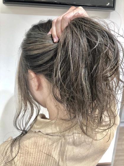 【✨人気NO.1✨】グレージュ系・透け感・赤味抹消極細ハイライト×Tr