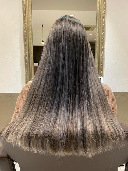 🌈デザインcolor🌈✂︎イメチェン前髪カット+透明感ダブルカラー+ケアトリートメント