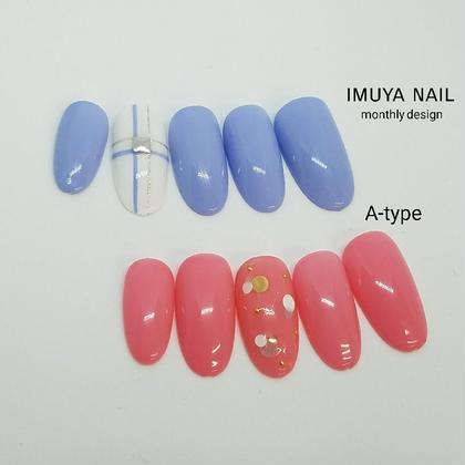 1月定額キャンペーンネイル A-type ¥5,500(オフ込) ネイル&脱毛サロン imuya nail所属・ネイル&脱毛サロンimuya nailのフォト