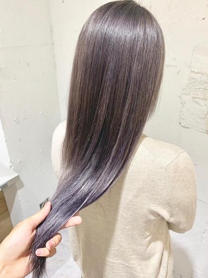 💛丸々ガラッと髪色チェンジ💛ダブルカラー(全頭ブリーチ+オンカラー)+トリートメント 💛