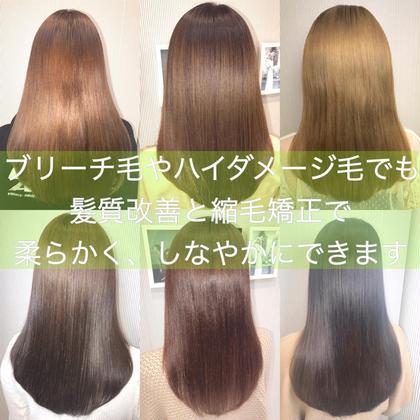 💝 『クセが強い方、柔らかく艶のある髪質にしたい方』髪に優しいプレミアム縮毛矯正➕カット➕ サブリミックケアTR💖