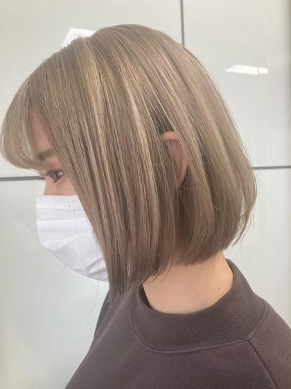 ✨学生限定✨黒髪卒業❤️ホワイトブリーチダブルカラー+高保湿トリートメント❤️