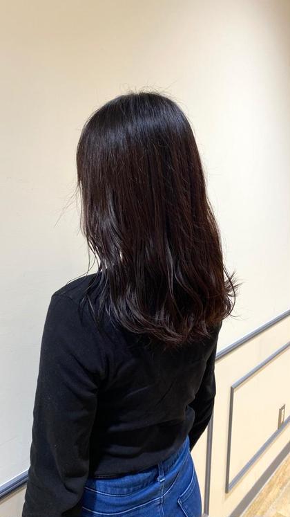 暗髪透明感カラー+✨超音波トリートメント✨