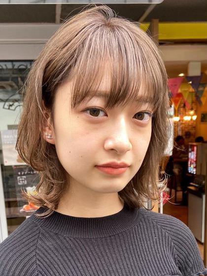 🎉人気No.1🎉前髪カット💖+ブリーチ+透明感カラー+集中補修トリートメント💕+コテ巻き仕上げ💖