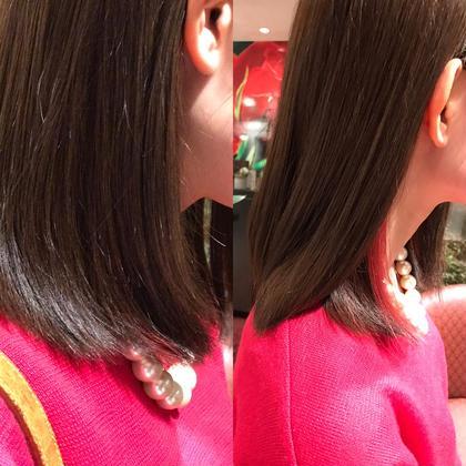 イヤリングカラー😄耳かけした時にチラッとピンクがおしゃれ🍒 HAIR&MAKE EARTH 南福島店所属・下條真のスタイル