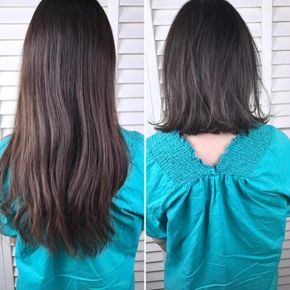 その他 カラー ショート パーマ ヘアアレンジ Real salon work✂︎ 【 before → after 】 . またまたバッサリ✂️ . 膨らむクセがある方は前下がりボブがオススメ☝︎ 髪が後ろでギリギリ縛れる長さ☺︎ . 透ける質感にcutでつくって ハイライト入れてラベンダーアッシュで透けるカラー☆ . . . #NAKAIstyle #ボブ#スレンダーハイライト #ラベンダーアッシュ