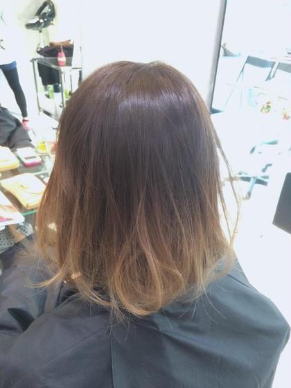 ボブスタイル☆ベージュのグラデーションカラー☆ SENSE  Hair所属・みやもとはるなのスタイル