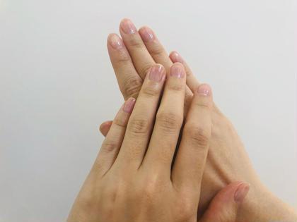 ハンドケアコース:お爪長さ・形調整、ウォーターケアでお爪周りケア、表面ツヤ出し(普段ネイルができない方にもおすすめです)
