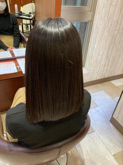 髪質復活⁉️酸性ストレート(最上級ハホニコトリートメント付き)
