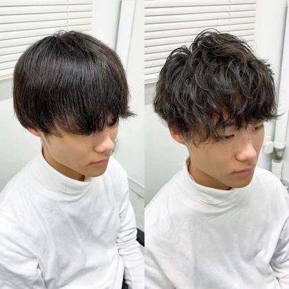 🔥似合わせスパイラルパーマ🔥+束感メンズカット✂︎+髪質改善高保湿4STEPトリートメント🌿
