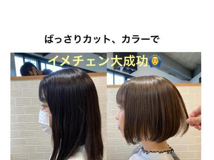 ✨ミニモ限定✨透明感カラー+カット+トリートメント【上野】