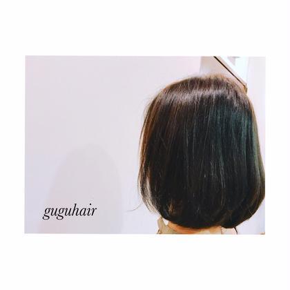 ボブ✴︎THROWモノトーンアッシュ6トーン gu gu hair所属・gu gu hairMATSUのスタイル