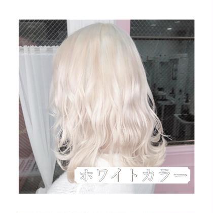 🤍ホワイトカラー🤍ブリーチ4回➕ホワイト系カラー➕毛髪補修トリートメント🤍
