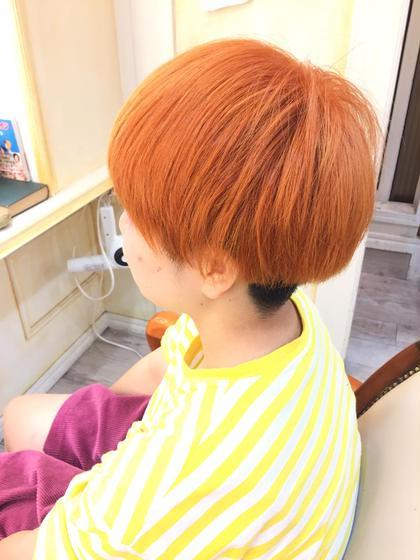 ☆ビビッドオレンジ azure所属・形川莉穂のスタイル