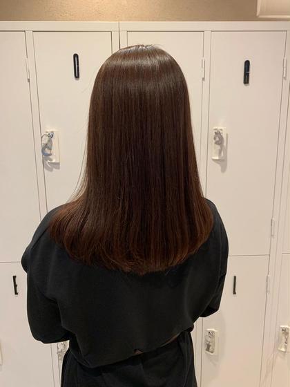 小顔カット+質感チェンジストレート+内部補修ケア+選べる髪質改善シャンプー