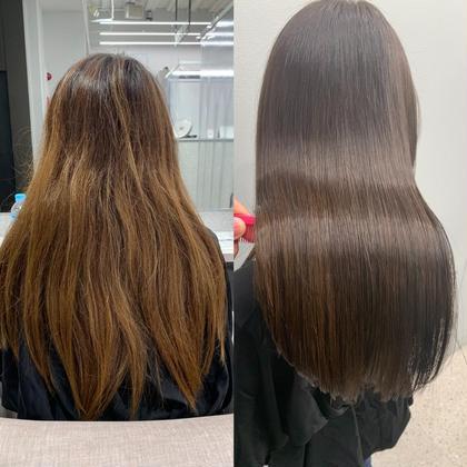 🟨美髪改善コース🟨メンテナンスカット+うる艶カラー+髪質改善トリートメント14300円