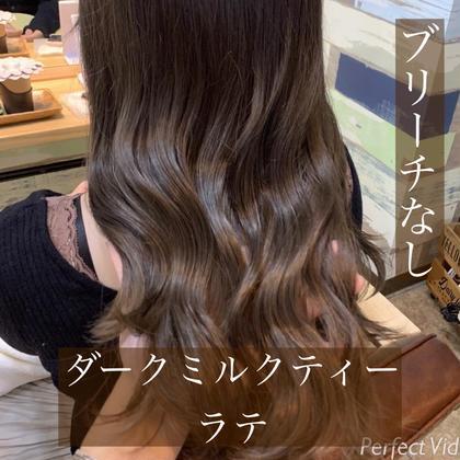 ♡ミニモ限定♡【ブリーチなし】ダブルカラー+Aujuaケア