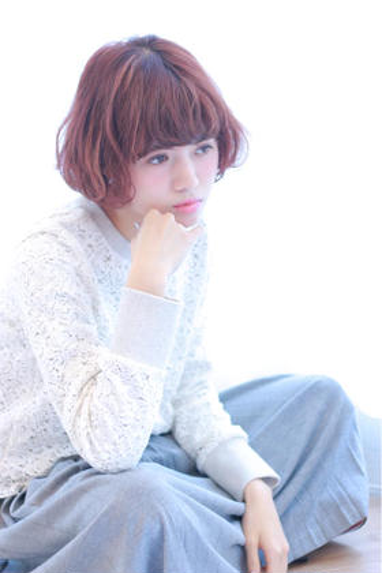 カラー ショート ボブスタイル☆