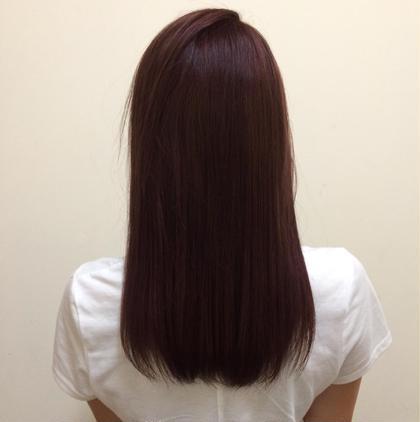 赤✖️紫の深みのあるカラー MAGNET HAIR 段原店所属・宮原諒馬のスタイル