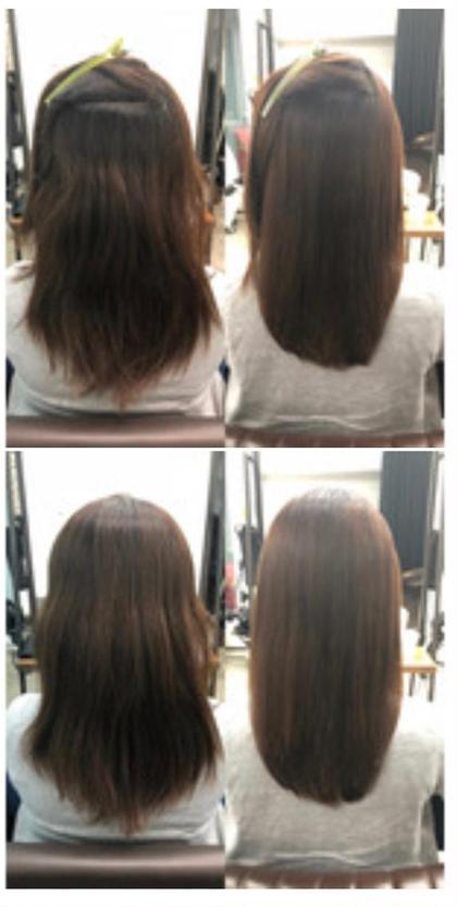 カット+✨髪質改善柔らか縮毛ストレート✨+aujuaトリートメント