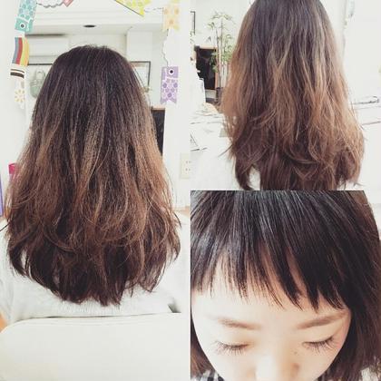 ✨こだわりのある前髪と毛先はツヤツヤに…✨前髪カット+トリートメント✨