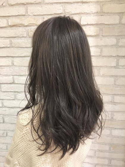 💘こだわり前髪カット+アドミオカラー+お手軽トリートメント