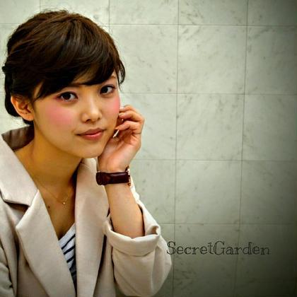 アップスタイル☆フレンチカジュアル☆セピアフレンチアッシュカラー☆ Secret Garden所属・⭐SG⭐   Secret⭐のスタイル