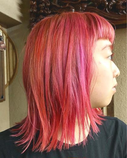 その他 カラー キッズ ネイル パーマ ヘアアレンジ マツエク・マツパ ミディアム メンズ pink mix
