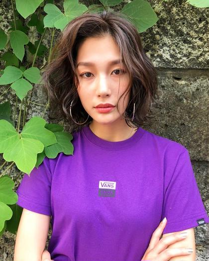 カラー ショート モデルのまーちゃんご来店 カットカラー ブラウンアッシュ❤️