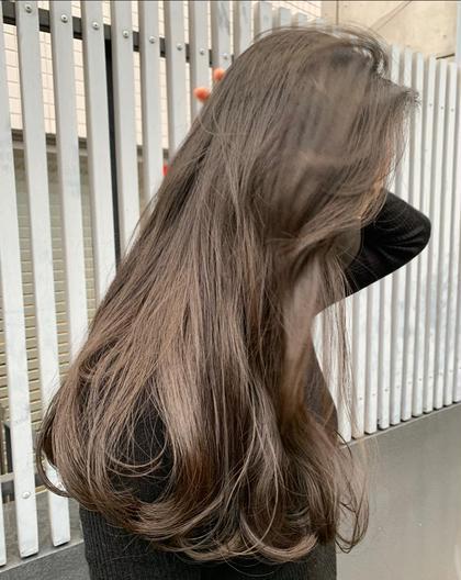 💡3月平日限定 ブリーチなし💡透明感ワンカラー+トリートメント 各+500円で枝毛カット前髪カット可能です!