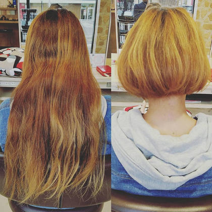 長かった髪をバッサリカット!! スタイルを変えたいお客様必見‼️★ HAIR & MAKE EARTH 松山銀天街店所属・寺崎文亮のスタイル